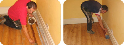 floor staining and gap filling service